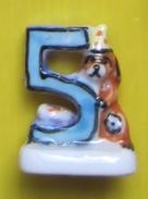 Fève - Petits Numéros -  Numéro - Chiffre N° 5 Chien  - Ref AFF 1997 66 - Animaux
