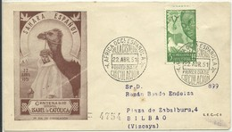 FDC 1951  CERTIFICADO - Sahara Español