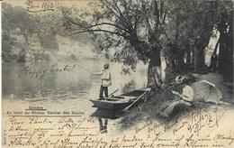 GENÈVE - Au Bord Du Rhône, Sentier Des Saules - PÊCHE - J.J. 2136 - GE Ginevra