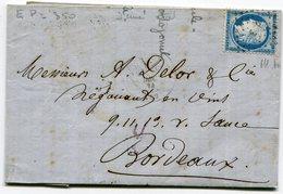 Cachet T17 GARE D EPERNAY+ N°60 Oblitéré EP Sur LAC De 1874 - 1849-1876: Période Classique
