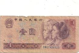 CHINA - PEOPLES REPUBLIC . 1 YUAN . 1980 . N° BW 07429323 - Chine