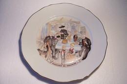 BIERE  - MAITRE  KANTER -- KANTERBRAU - LE KUGELHOF DU  DIMANCHE   -  - ASSIETTE -( Pas De Reflet Sur L'original ) - Plates