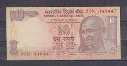 INDIA 10 TEN RUPEES BANKNOTE XTRA FINE - India