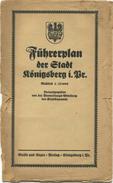 Führerplan Der Stadt Königsberg I. Pr. 1925 - 61cm X 67cm Maßstab 1:15'000 - Rückseitig Lithographie 23cm X 61cm Der Neu - Landkarten