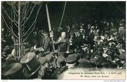 92 - SURESNES - Inauguration Du Monument Emile Zola - M.Havet Lisant Son Discours - - Suresnes