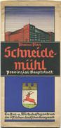 Pharus Plan Schneidemühl 30er Jahre - 49cm X 80cm Maßstab 1:12'000 - Landkarten