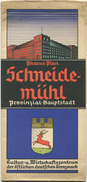 Pharus Plan Schneidemühl 30er Jahre - 49cm X 80cm Maßstab 1:12'000 - Mapas Geográficas
