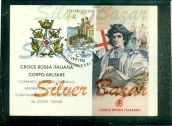 CROCE ROSSA - GENOVA-CALENDARIETTI-1992-MEETING INTERNAZIONALE CROCE ROSSA-ANNULLO SPECIALE-MARCOFILIA - Croix-Rouge