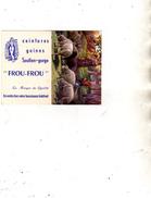 Calendrier Dépliant à 2 Volets - Frou-Frou  Jolis Dessous Soutien-gorge Gaine Ceinture - Bergère Moutons - 1955 - Calendriers