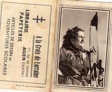 Calendrier Dépliant à 2 Volets - A La Croix De Loraine Agen (Lot Et Garonne) Librairie - 1956 - Calendriers