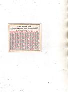 Calendrier Simple - Imp. Coopérative Du Sud-Ouest Albi - Le Tarn Libre Albi - 1955 - Calendriers