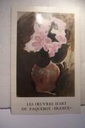 """PAQUEBOT  """" FRANCE """"  - LES OEUVRES D'ART  -- SOUSCRIPTION  - ( PUBLICITE ) - Publicidad"""