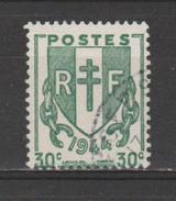 FRANCE / 1945 / Y&T N° 671 : Chaînes Brisées 30c - Choisi - Rond (1948) - Used Stamps