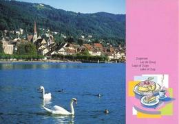 """Entier Postal De 2004 Sur Carte Postale Avec Illustration """"Lac De Zoug"""" - Enteros Postales"""