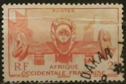 AFRICA OCCIDENTAL FRANCESA 1947 Local Motives. CON DOBLEZ. USADO - USED.. - A.O.F. (1934-1959)