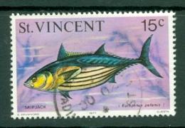 St Vincent: 1975/76   Marine Life    SG432     15c   [Skipjack Tuna]    Used - St.Vincent (...-1979)