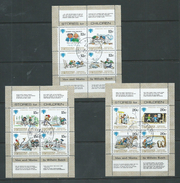 Penrhyn Island 1979 IYC Set Of 3 Sheets With Text Labels FU - Penrhyn
