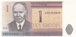 ESTONIA  1 KROON  1992   FDS - Estland