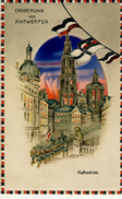 BELGIQUE ANTWERPEN ANVERS Eroberung  Relief à Voir à La Lumière  Durch Das Licht  Feldpost 1915 Belgien - Antwerpen