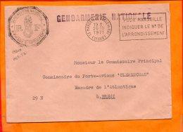 """B. Du RHONE, Marseille, Flamme à Texte, """"pour Marseille Indiquer Le N° De L'arrondissement"""" (flamme à Droite) - Marcophilie (Lettres)"""