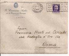 "IMPERIALE Cent.50-TARIFFA LETTERA, POSTE BOLOGNA TARGHETTA""LOTTERIA..........."",POSTE ROMA TARGHETTA"" FUHRER-DUX"",R. COM - 1900-44 Vittorio Emanuele III"