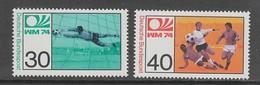 PAIRE NEUVE D'ALLEMAGNE FEDERALE - COUPE DU MONDE DE FOOTBALL 1974 EN ALLEMAGNE N° Y&T 657/658 - World Cup