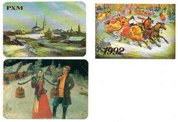 Calendrier De Poche Zakkalender Calendrier De Poche  Russia Russie 1992 + 1991 3 Stuks/pcs Taschenkalender - Calendriers