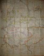 Ravensteins Spezialkarte Der Provinz Sachsen Und Der Freistaaten Thüringen Und Anhalt -  123cm X 98cm Maßstab 1:300'000 - Landkarten