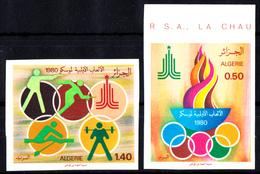 ALGERIE - N°714/715 - NON DENTELES - JEUX OLYMPIQUES DE MOSCOU 1980. - Sommer 1980: Moskau