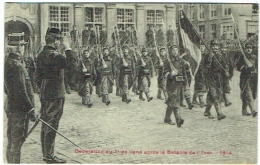 Militaria. Armée Belge. Décoration Du 7è De Ligne Après La Bataille De L'Yser. Roi Albert 1er. - Oorlog 1914-18