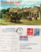 Historic Front Street - Boot Hill, Dodge City (Kansas) Attelage Chevaux Devant Commerces  (94534) - Ansichtskarten