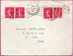 Enveloppe Avec Oblitération Mécanique + T à Date De L'Exposition 1937 - Paris Colonies - Marcofilie (Brieven)