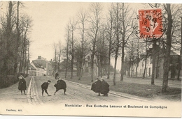80/ Montdidier - Rue Eustache Lesueur Et Boulevard De Compiégne - (enfants Belle Animation ) - Montdidier