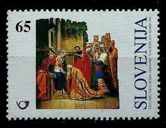 Slovenia 1996: Christmas Stamp; Christmas Crib - The Three Wise Men Bowing To Baby ** MNH - Slovénie