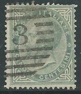 1863-65 REGNO USATO EFFIGIE 5 CENT - P50 - Usati