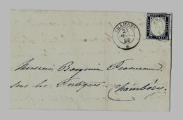 Duché De Savoie  « CHAMOUX » L.S.I. - 7,5gr - Tarif à 20c. (1.1.1851/31.10.1859)S.N°15b (RAT. N°20d) - 20c. - Sardaigne