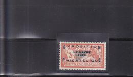 Exposition Philatélique Du Havre 1929 N° 257A* Timbre Neuf Avec Trace De Charnière Légère - France