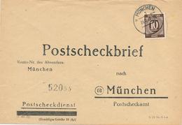 MÜNCHEN - 1947 , Postscheckbrief  Nach München  -  Big Letter, Dispatch = 4,20 EURO (normal Mail) - American/British Zone
