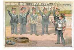 CHROMO CHOCOLAT POULAIN SERIE LES SIGNAUX A BORD N°10 Marine - Poulain