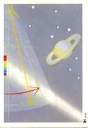 Geïllustreerde Briefkaart Philato - R161 (1988, Slingeruurwerk En Planeet Saturnus) - Sterrenkunde