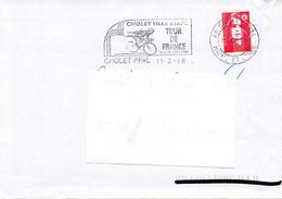 CHOLET (MAINE ET LOIRE) : CYCLISME TOUR DE FRANCE 1998 FLAMME Temporaire - Ciclismo