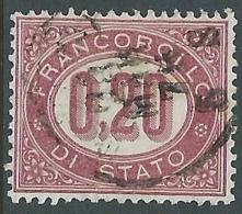 1875 REGNO USATO SERVIZIO DI STATO 20 CENT - P51-6 - Servizi