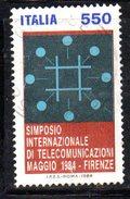 XP1720 - REPUBBLICA 1984, Serie Usata . TELECOMUNICAZIONI - 6. 1946-.. Repubblica