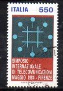 XP1722 - REPUBBLICA 1984, Serie Usata . TELECOMUNICAZIONI - 6. 1946-.. Repubblica