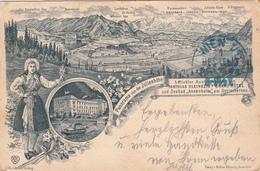 Panorama Von Der Julienhöhe-Hotel Und Seebad Annenheim Ossjachersee-Litho 1898 - Autriche