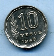 1968  10 PESOS - Argentina