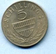 1969  5 Schlling - Autriche