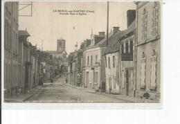 61-LE MELE SUR SARTHE GRANDE RUE ET EGLISE - Le Mêle-sur-Sarthe