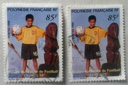 ♥ Polynésie  YT N°565 -coupe Du Monde 98 - 1998 - Oblitéré - Polynésie Française