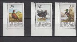 Liechtenstein  **    997-999 Jagdwesen Eckrand Katalog 3,80 - Liechtenstein